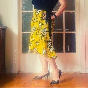🌱 CUE Sz 10 Faux Wrap Midi Skirt